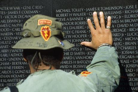 Paying Respect at The Vietnam Veterans Wall
